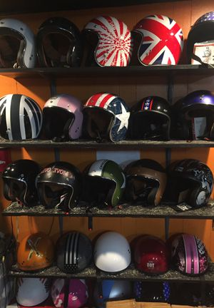 3/4 retro open face dot motorcycle helmet $60 and up for Sale in Whittier, CA