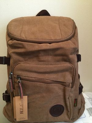 Canvass backpack and it can fit 15.6inch laptop(brand new) for Sale in Philadelphia, PA