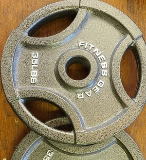 Pair of 35 pound Olympic weight plates new for Sale in Weymouth, MA