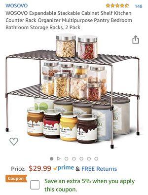 Expandable Stackable Cabinet Shelf Kit for Sale in Woodbridge, VA