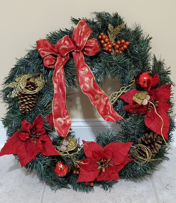 """Large beautiful Christmas Wreath - 23"""" inches wide"""