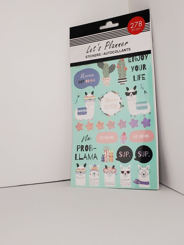 Llama and sloth stickers