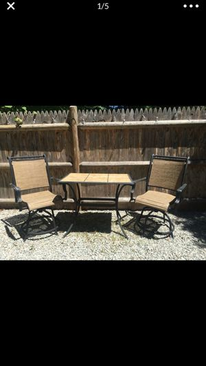 Outdoor patio 2 chair set for Sale in Weymouth, MA