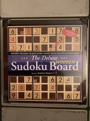 SUDOKU USA Deluxe Wooden Game Board Brain 100 Puzzles 9X9 w/Storage *SEALED* f/s for Sale in Miami, FL