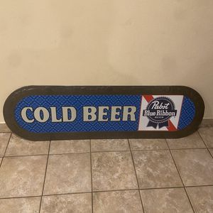 RARE HUGE PABST Blue Rubbon Beer TIN SIGN Vintage for Sale in La Habra, CA