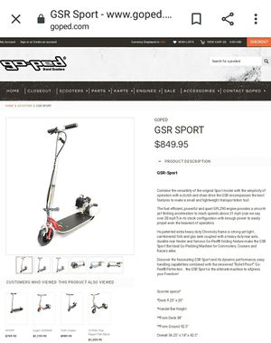 GOPED GSR SPORT, FAST READY TO RIDE for Sale in Santa Ana, CA