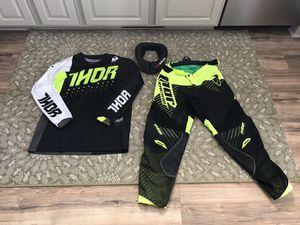 Motor cross/ motorcycle racing gear. Pants,jersey and neck collar. for Sale in Cedar Lake, IN