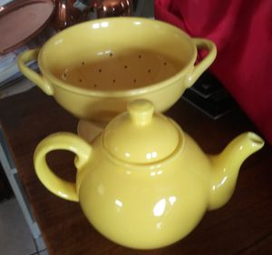 Porcelain tea pots and collander and pitcher. for Sale in Boston, MA