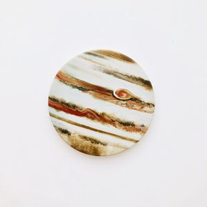 Planet Jupiter round ceramic coaster 1 piece, 4 inches for Sale in Daly City, CA