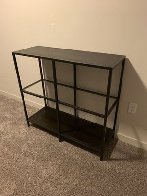 TV STAND MULTIMEDIA STAND or BOOK SHELF GLASS / wood great condition for Sale in Irvine, CA