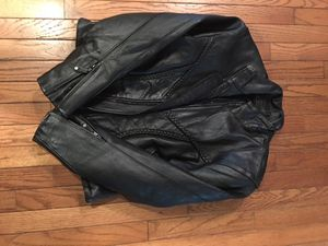Women's leather motorcycle jacket new for Sale in Chesterfield, VA