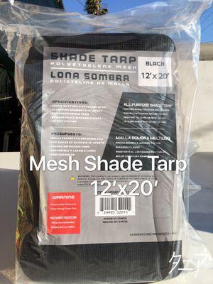 Black Mesh Shade Tarp 12'x20' for Sale in Los Angeles, CA