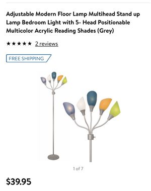 Floor Lamp with 5 head and bulb for Sale in North Providence, RI