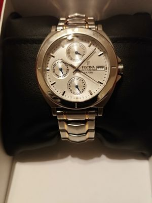 Festina- All Stainless Steel -Multifunction-W.R watch for Sale in Hensley, AR