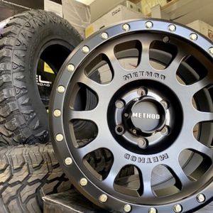 """17"""" METHOD WHEELS PACKAGE Buy Now - Pay Later👍 17"""" NV Rims (Matte Black) 265/70R17 CrossLeader MT Tires Brand New - In Stock Now Package Only $1399 for Sale in La Habra, CA"""