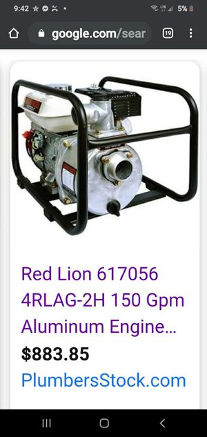 Red Lion Honda Powered Aluminum Engine Driven Water Pump for Sale in Oklahoma City, OK