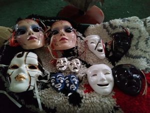 Porcelain/Glass collection of face masks for Sale in Hanahan, SC