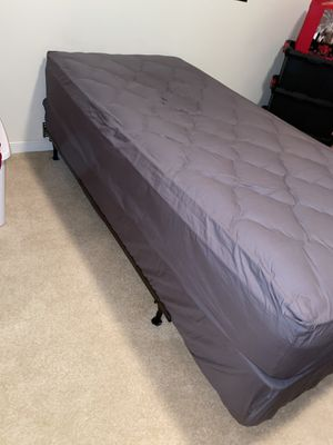 sealy posture premier x Xl twin mattress frame and boxspring like new for Sale in Garfield, NJ
