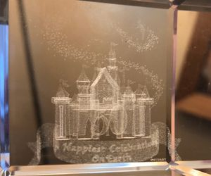 Disney Collectors 50th Celebration Magic Kingdom Etched Crystal Cube for Sale in East Bridgewater, MA