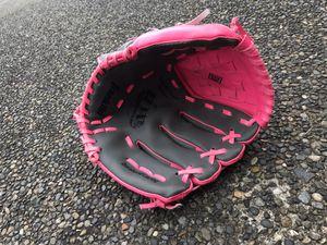 Baseball gear: 9 baseballs; girls softball glove and bat; boys batting helmet; Mariners baseball bag, baseball glove for Sale in Tacoma, WA