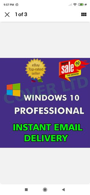 🔑 WINDOWS 10 PRO PROFESSIONAL GENUINE LICENSE KEY 🔑 INSTANT DELIVERY 🔑, for Sale in Cary, NC