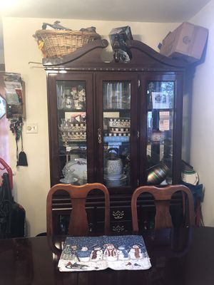 Dining room table and chairs with buffet and china closet for Sale in Elizabeth, PA