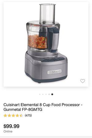 Cuisinart Elemental 8 Cup Food Processor Gunmetal for Sale in Covina, CA