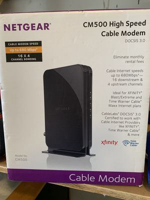 Netgear CM500 Cable Modem for Sale in Vancouver, WA