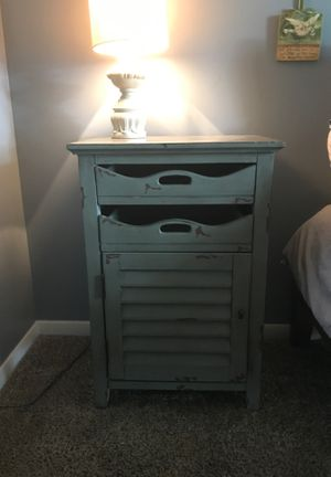 Green Rustic Side Table with drawers for Sale in Roswell, GA