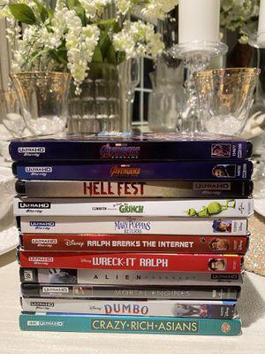 4K Movies $10 Each! Disney & Marvel for Sale in Azusa, CA