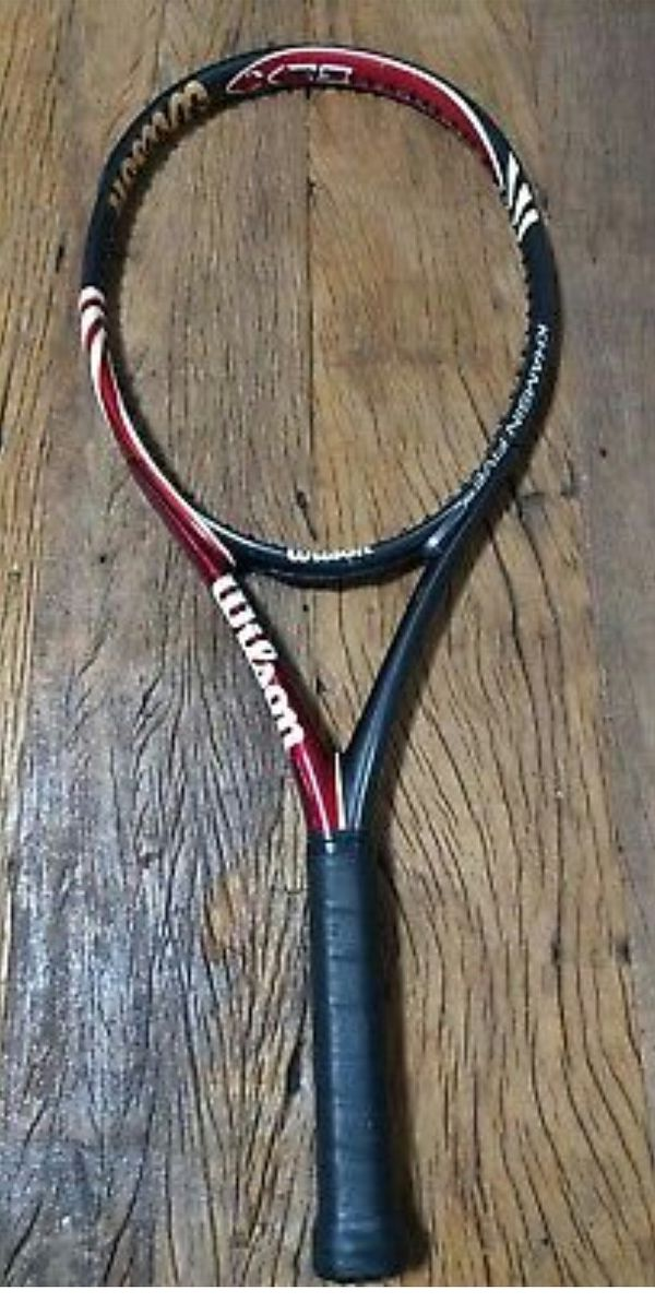 Wilson 5 Blx Khamsin Five 108 Tennis Racquet Racket 4-1/4 Free Syn Gut Stringing