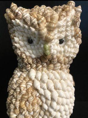 Vintage Philippine Handmade Craft Art Sea Shell Owl Figurine Bird Sculpture Home Decor for Sale in Chapel Hill, NC