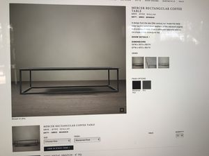 Restoration hardware metal coffee table for Sale in Mesa, AZ