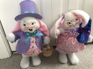 "New Annalee 12"" Easter boy & girl bunny must see for Sale in Stoughton, MA"