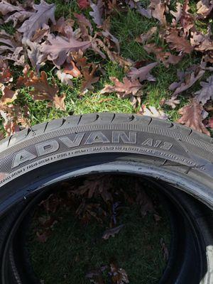 Yokohama Advan A13 tires. Less then 1k on them. 245 / 40R18's for Sale in Jackson, NJ