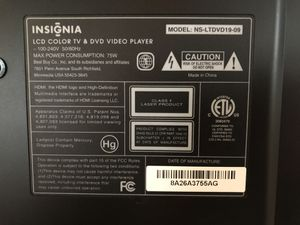 "Insignia 19"" LCD TV for Sale in Alexandria, VA"