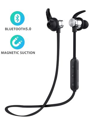 Bluetooth Headphones, ownta Bluetooth 5.0 Wireless Magnetic Earbuds, Snug Fit for Sports with Mic, TF Card Playback(Compatible with iPhone/iPad/Samsu for Sale in Brooklyn, NY