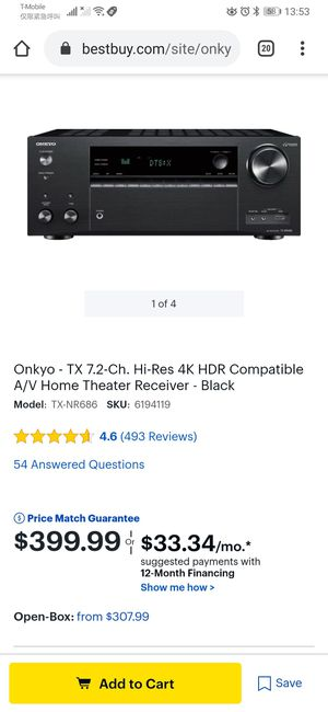 Onkyo Home Theater receiver for Sale in Santee, CA
