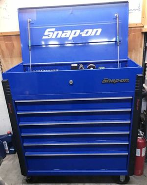 """Snap-On usa tools 40""""6 drawer roll cart royal blue for Sale in Pomona, CA"""
