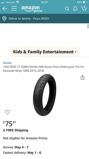 Shinko motorcycle tire for Sale in Pasco, WA