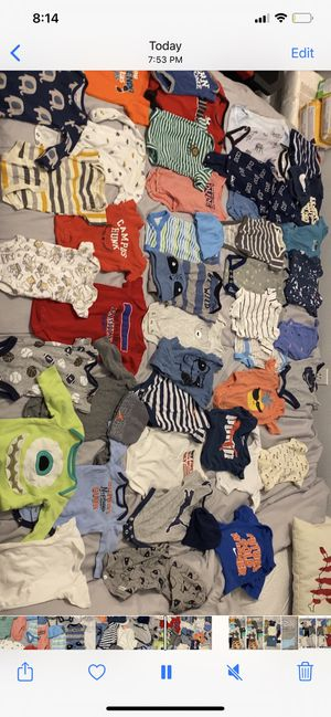 Baby clothes newborn and 0-3 months tonss of diapers formula and more clothes for Sale in Tampa, FL