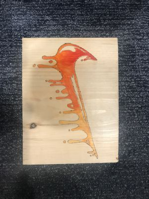 Handmade Art Dripping fire Nike logo for Sale in Brooklyn, NY