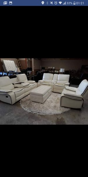 Brand New White 3pc. Recliner Set for Sale in Austin, TX