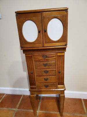 Antique Jewelry Armoire with Mirror for Sale in Boca Raton, FL