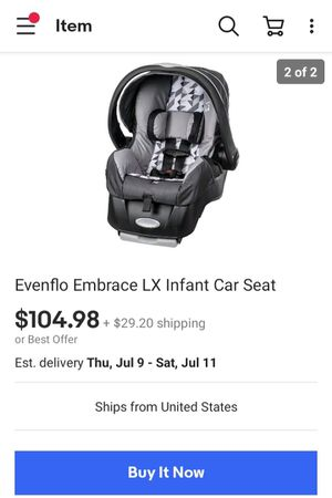 CarSeat! EvenFlo Embrace LX + Base! for Sale in Las Vegas, NV