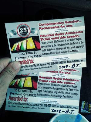 Haunted hydro tickets for Sale in Walbridge, OH