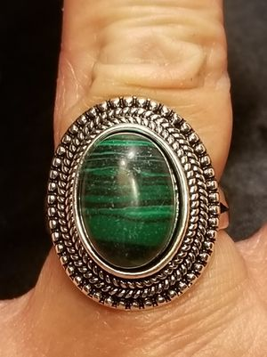 Simulated Green Turquoise Antique Style 925 Sterling Silver Ring. for Sale in Amarillo, TX