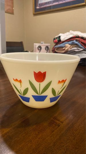 Antique (old) frosted glass deep bowl for Sale in Vallejo, CA