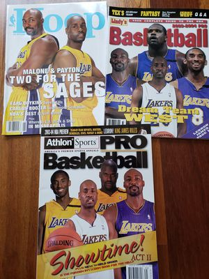 3 Los Angeles Lakers NBA basketball magazines for Sale in Gresham, OR
