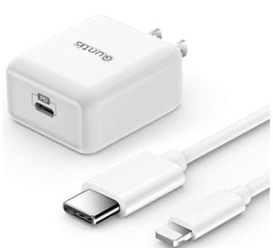 Fast Charger for iPhone, MFi Certified - 18W USB C with 6ft Power Wall Charger Cable Type C Cable to MFi Certified Lightning Connector, Type C Charge for Sale in Carson, CA